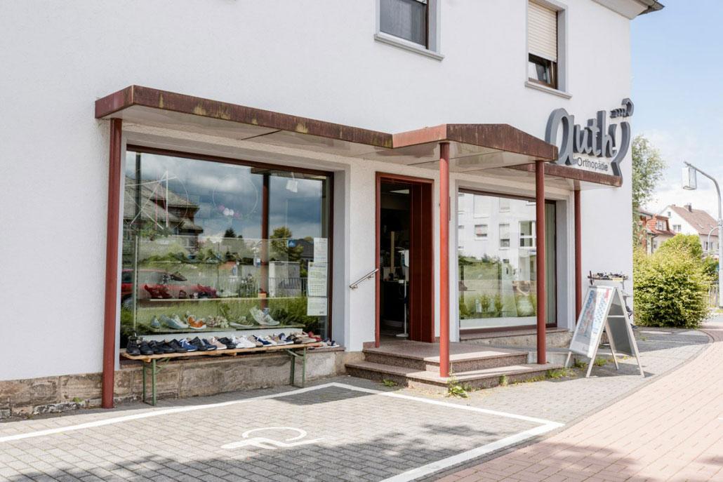 Außenansicht Geschäft Auth Orthopädie Neuhof